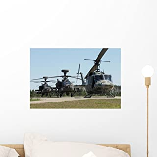 Wallmonkeys FOT-3413685-18 WM4412 Apache Helicopters Peel and Stick Wall Decals (18 in W x 12 in H), Small