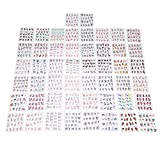 Water Decal, Lot de 50pcs Water Decal Autocollant Onegle Tip Guidee French Nail Art Sticker Tattoo Multi-couleurs Décor Manucure Transfer Sticker pour les Ongles