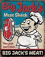 ビッグジャックの肉ティンサイン