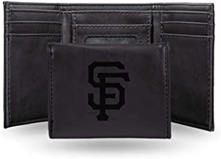Rico Industries Giants - Sf Laser Engraved Black Trifold Wallet
