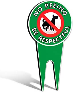 Signs Authority extra large no pee dog sign, stop dogs from peeing on your lawn, sign politely reads please be respectful, protect your property