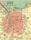 2020 Weekly Planner: Fond du Lac, Wisconsin (1955): Vintage Topo Map Cover