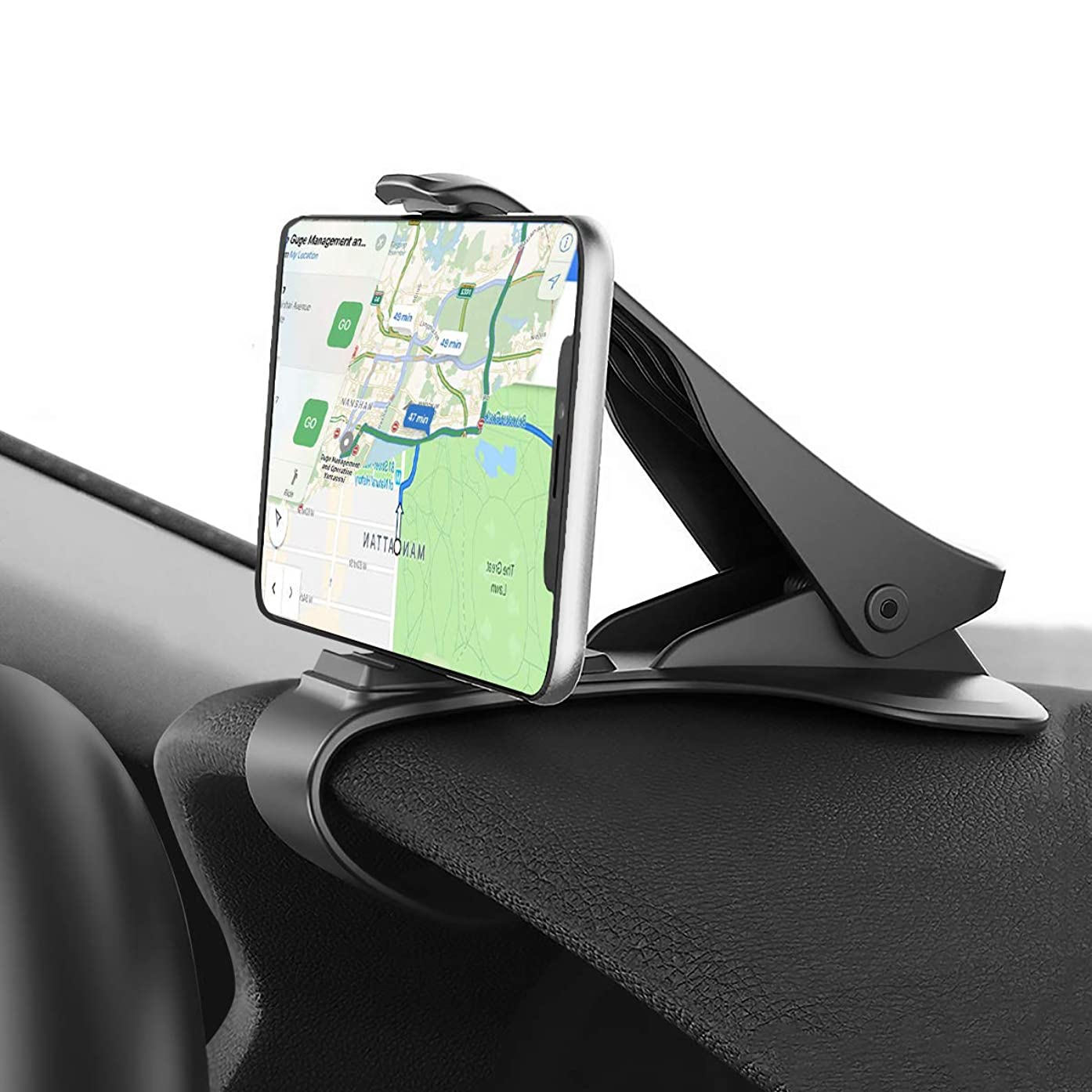 Car Phone Mount, CRRISE Dashboard Clip Car Phone Holder,Non-Slip Durable Compatible with iPhone Xs/XS/MAX/XR/X/8/8Plus/7/7Plus/6/6Plus, Galaxy S7/8/9/10, Google Nexus and More