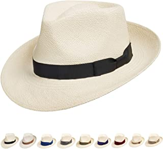 07e826b7b64 Ultrafino Genuine Havana Retro Panama Straw Hat Classic Lightweight