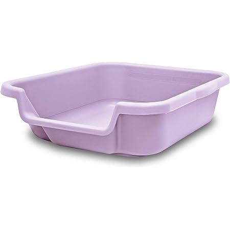 """Kitty Go Here Litter Box Senior Cat Litter Box (20""""x15""""x5"""", Storybook Lavender)"""