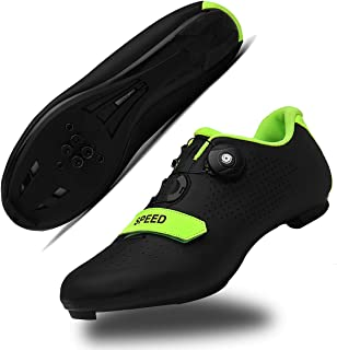 Mens Cycling Shoes Road Bike Shoe with SPD,Peloton Shoes with Buckle Delta Compatible for Indoor Riding Racing