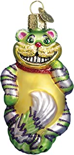 Old World Christmas Ornaments: Cheshire Cat Glass Blown Ornaments for Christmas Tree