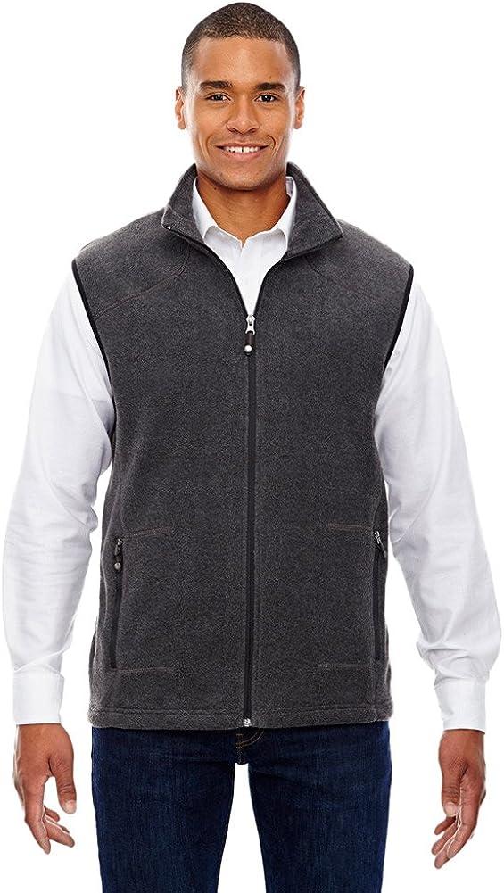 Ash City - North End North End Men's Voyage Fleece Vest, 4XL, Hthr Chrcl 745