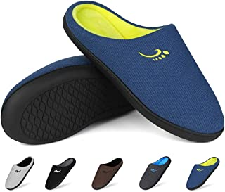 Men's Classic Two-Tone Memory Foam Anti-Slip Slippers (7-14 US)