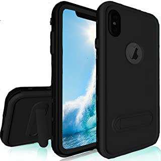 RedPepper iPhone Xs Max Waterproof Case, Underwater Full Sealed Cover Shockproof Dirtproof Snowproof IP68 Certified Waterproof Case with Built-in Screen Protector for iPhone Xs Max Inch 2019(Black)