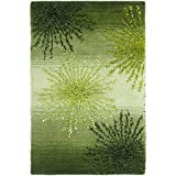 Safavieh Soho Collection SOH712G Handmade Fireworks Green and Multicolored Premium Wool Area Rug (2' x 3')
