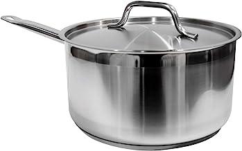 Update International SSP-4 Sauce Pan, 4.5 Quart, Silver