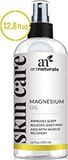 ArtNaturals Pure Magnesium Oil Spray - (12 Fl Oz / 355ml) – Essential Natural Deodorant - Helps Reduces Migraines, Sore Muscle, Joint Relief, Stress, Anxiety, Period Pains and Sleep Aid