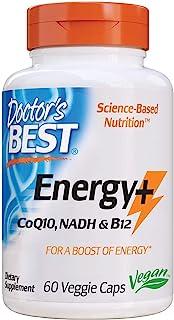 Doctor's Best Energy + CoQ10, NADH & B12, Immune System, Energy, Mood, 60 Ct