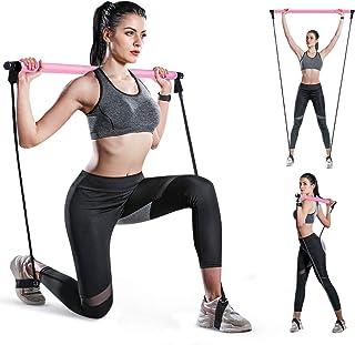 SGODDE Yoga Pilates Bar Kit mit Widerstandsbändern, Tragbar