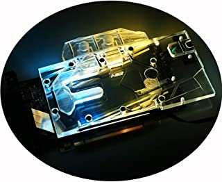Bykski GPU Liquid Cooler Copper Waterblock G1/4 Threads Full Cover Water Cooling Water Block PC Liquid Cooling GPU Watercooling Block for Graphics Card NVIDIA GeForce RTX 2070 Founder's Edition 5V RGB