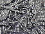 Plaid kariert Polyester, Viskose & Spandex Stretch passend