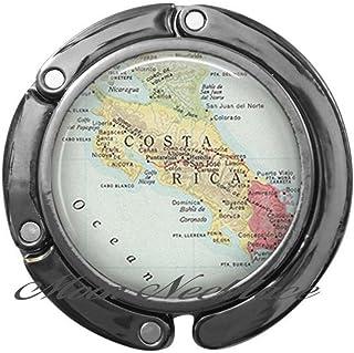 Gancho para cartera, diseño de Costa Rica con mapa de Costa Rica y gancho para bolsa, diseño de Costa Rica