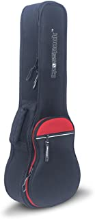 Crossrock Baritone Ukulele Bag with 10mm padded and Padded Strap in Black&Red
