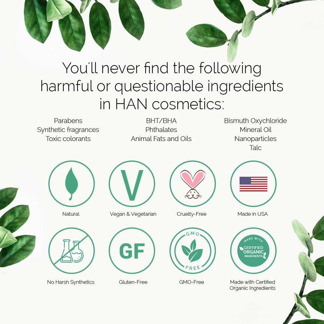 HAN Skincare Cosmetics All Natural Multistick, Bordeaux Glow | With Organic Shea and Argan Oil | 0.20 oz
