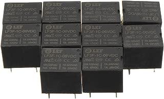 uxcell 10Pcs DC 6V Coil SPDT 1NO 1NC 5P Power Electromagnetic Relay DIN Rail/PCB Mounted 125V/12V 10A 277V/24V 10A