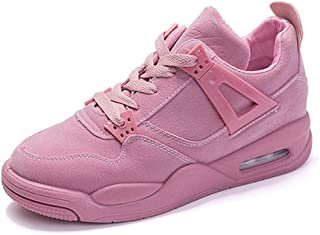 Ladies Single Shoes Casual Shoes Sneakers Thick Bottom Breathable Running Travel,Pink,39