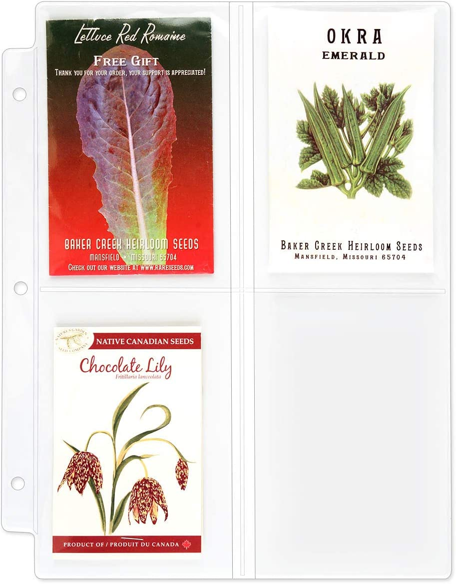 StoreSMART おすすめ Seed Packet 正規品 Binder Page - per 4 100-Pac Pockets Page.