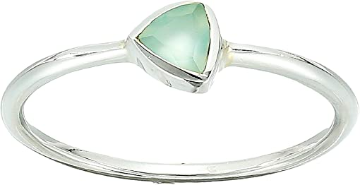 925 Sterling Silver/Blue Chalcedony
