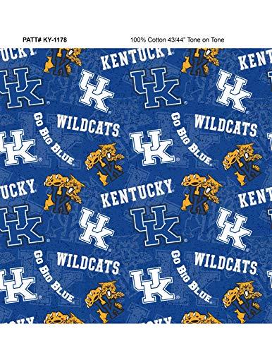 University of Kentucky Fat Quarter-NCAA Collegiate 100% Cotton Fabric-KY1178