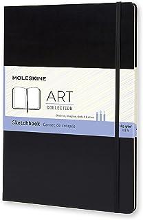 "Moleskine Art Plus Hard Cover Sketchbook, Plain, A4 (8.25"" x 11.75"") Black - Sketch Pad for Drawing, Watercolor Painting, ..."