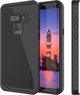 PunkCase Galaxy Note 9 Waterproof Case [StudStar Series] [Slim Fit] [IP68 Certified] [Shockproof] [Dirtproof] [Snowproof] Armor Cover Compatible with Samsung Galaxy Note 9 [Black]