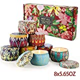 Scented Candles Gifts Sets,Aromatherapy Candles for Home Meditation Large Size 100% Soy Wax,Christmas Gifts Set for Women-4.4 OZ8Pack