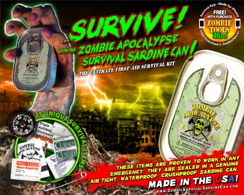 Zombie Apocalypse Survival Kit In A Sardine Can! by Sardine Can Company