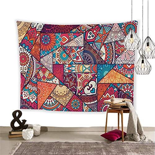 WERT Mandala patrón Tapiz Tela para Colgar en la Pared Estilo Boho decoración del Dormitorio del hogar Fondo Floral Tela Toalla de Playa A8 95x73cm