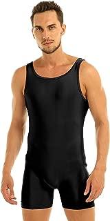 Adult Men's Lycra Spandex Short Tank Unitard Bodysuit Sports Workout Biketard Bodyshaper