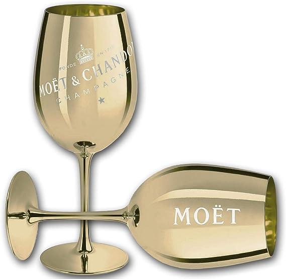 1x Moet Chandon Glas Blau Imperial Champagner ECHTGLAS Gläser NEU Blue France