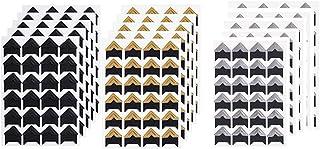 MUXItrade 360 pcs Feuilles Coins de Photo Autocollant Coin de Papier Autocollants Autocollant de Montage Photo pour Scrapb...