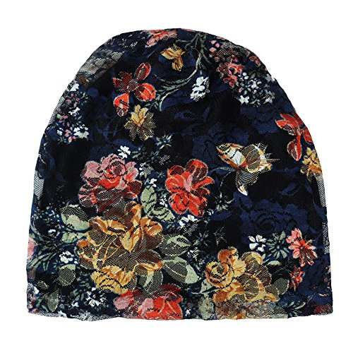 YueLove Mujeres Turbante Sombrero Encaje Pelo Estampado PéRdida Cabeza Bufanda Abrigo Sombrero para La Cabeza Gorro para Dormir Turbante Bufanda De Cabeza Estampada para Mujer