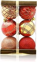 12 Piece Set Christmas Ball Christmas Tree Pendant Christmas Tree Decoration Red Gold