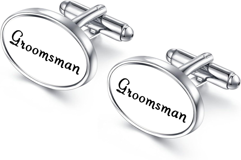 HONEY BEAR Oval Wedding Cufflinks supreme for Mens with G Shirt Marriage half