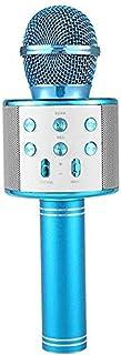 ميكروفون لاسلكي KTV WS-858 مشغل يو اس بي بلوتوث - ازرق