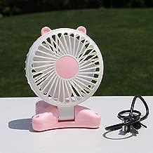 Mmyu USB Fan Mini Fan Without Leaf Mini Fan Creative Handheld Portable USB Charging Fan No Leaf Rose Red