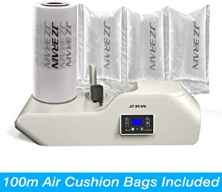 JZBRAIN Air Pillow Machine Air Pillow Maker Air Bubble Machine Air Cushion Machine Heating Up in 2 Minutes Speed 6.0-7.2 Meters Per Minute 100m Trial Run Film Roll Included (White)