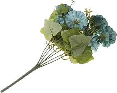 Elegant Essence 1 Bunch of Artificial Chrysanthemum Ball Silk Flowers Bouquet for Home Decor Wedding Table Centerpiece Baby S