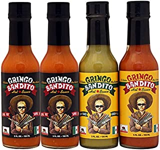 Gringo Bandito Super Hot Sauce Variety Pack, 5 Ounce (Pack of 4)