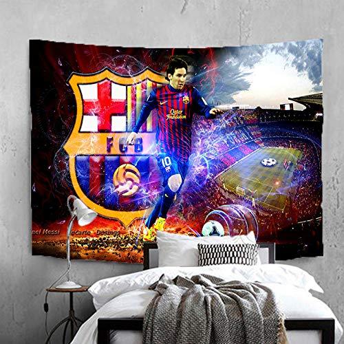 Lionel-Messi Barcelona - Tapiz para colgar en la pared, diseño de balón de fútbol