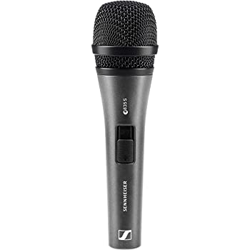 Sennheiser E835-S Dynamic Cardioid Vocal Microphone with on/off switch