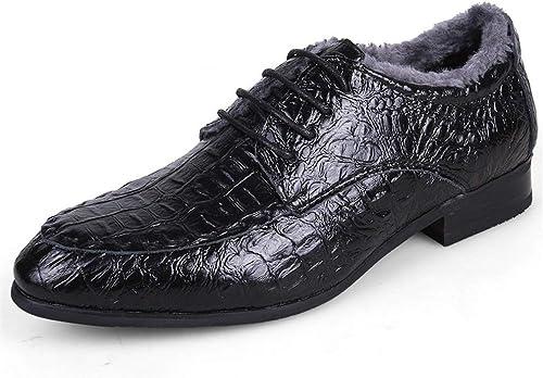 YAN Chaussures pour Hommes Chaussures d'affaires Classiques Chaussures à Lacets en Cuir à Bout Pointu pour Femmes (Couleur   F, Taille   45)