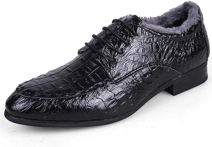 YAN Chaussures pour Hommes Chaussures d'affaires Classiques Chaussures à Lacets en Cuir à Bout Pointu pour Femmes (Couleur   F, Taille   43)