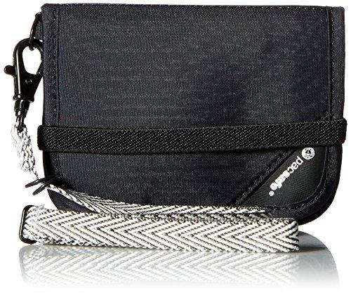 Pacsafe RFIDsafe V50 - Geldbörse mit RFID Ausleseschutz, Black, Einheitsgröße